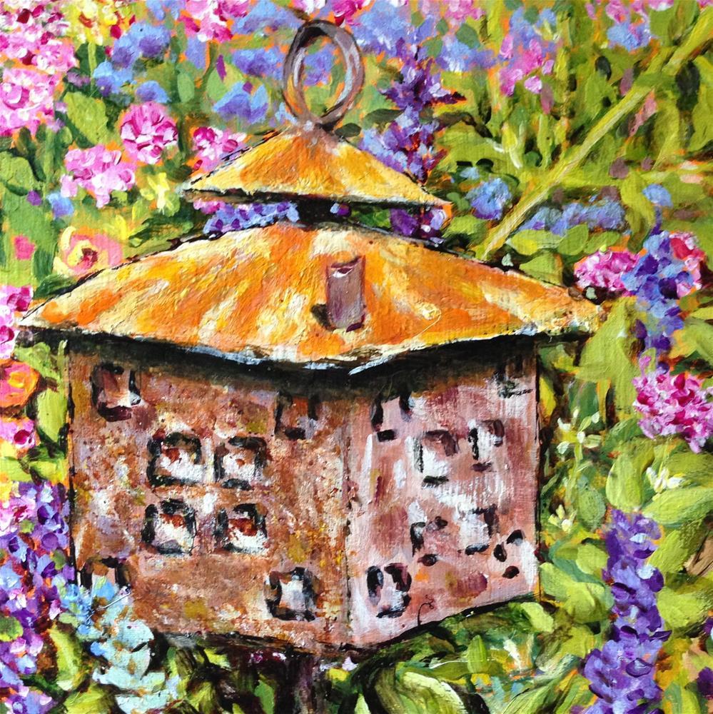 """Yard Bling"" original fine art by Debbie Yacenda"