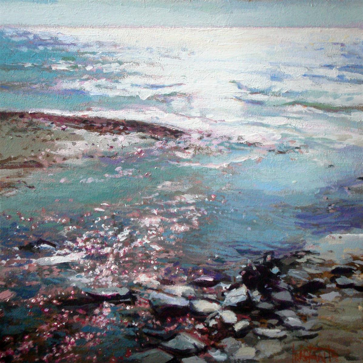 """Benamara´s beach"" original fine art by Víctor Tristante"