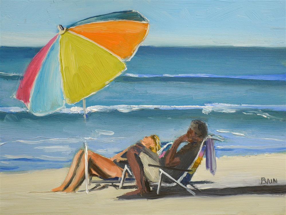 """Sun or Shade"" original fine art by Peter Bain"