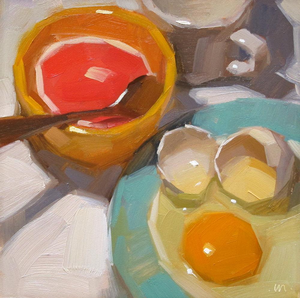 """Breakfast Eggcetera"" original fine art by Carol Marine"