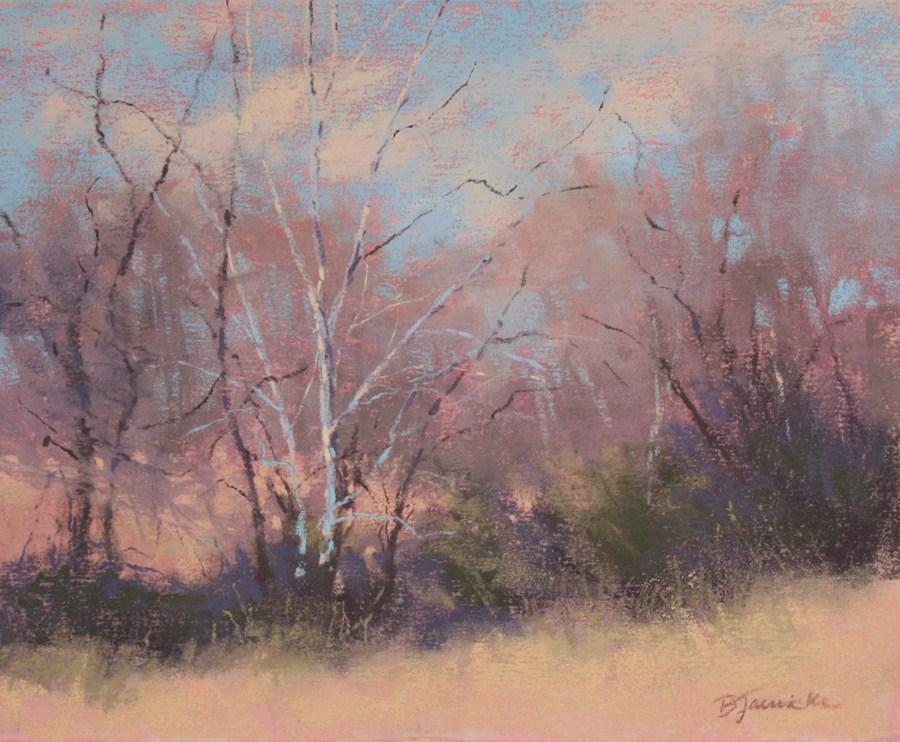 """Winter Trees Waiting"" original fine art by Barbara Jaenicke"