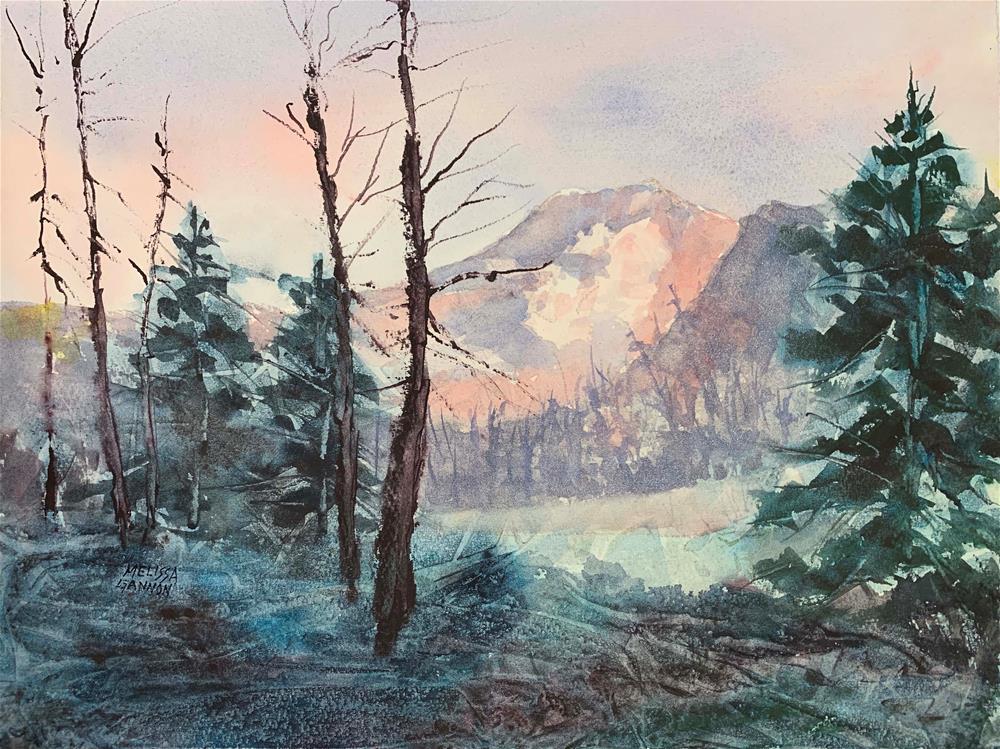 """Mt Hood Magic"" original fine art by Melissa Gannon"