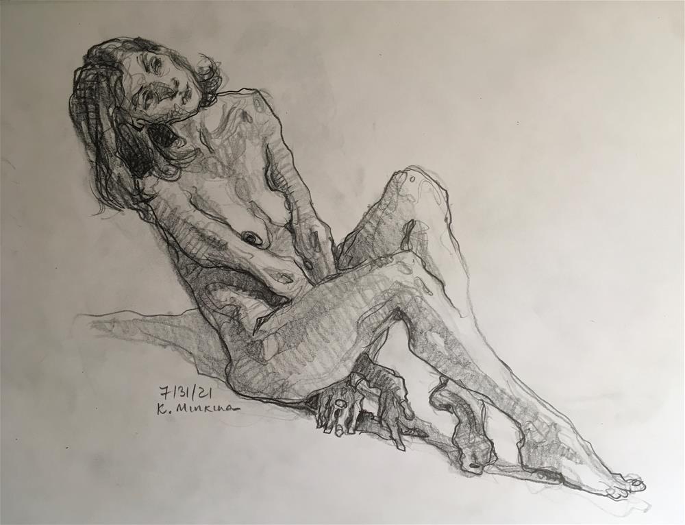 """Figure87"" original fine art by Katya Minkina"