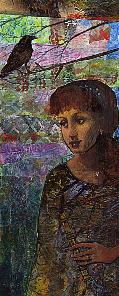 """""""Mixed Media: Recital"""" original fine art by Belinda Del Pesco"""