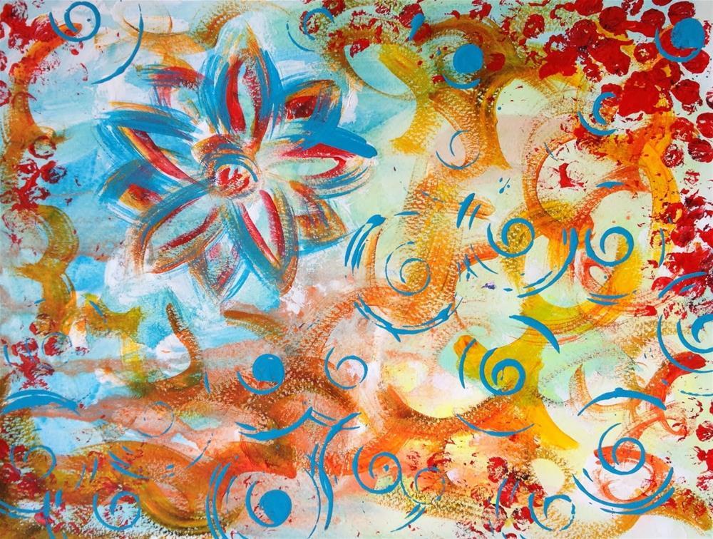 """A Flower with a Twist"" original fine art by Kali Parsons"