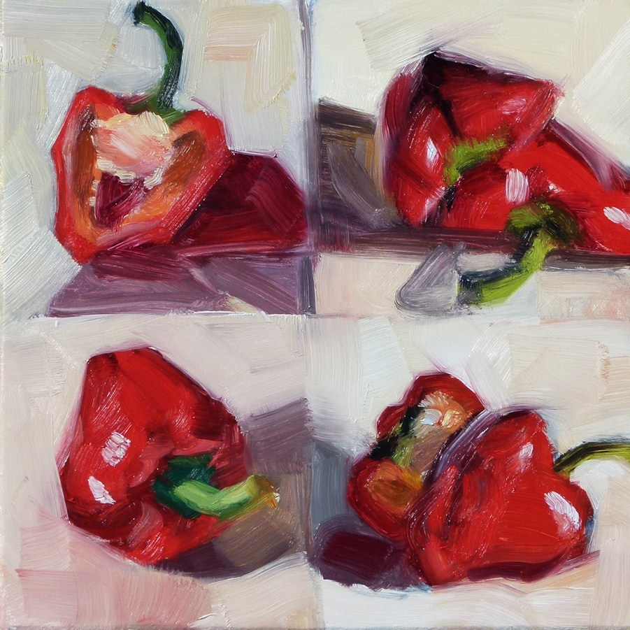 """Red Pepper Sketches"" original fine art by Deb Anderson"