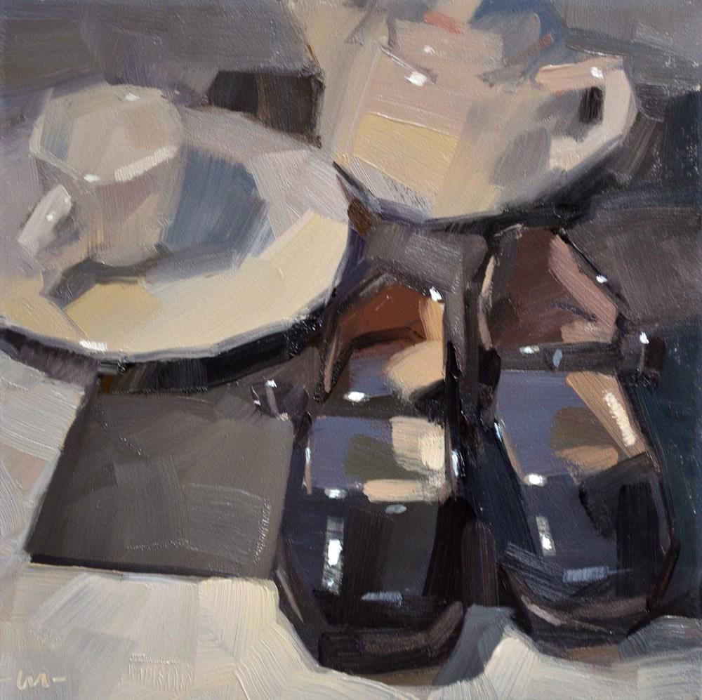 """Little Girl Things"" original fine art by Carol Marine"