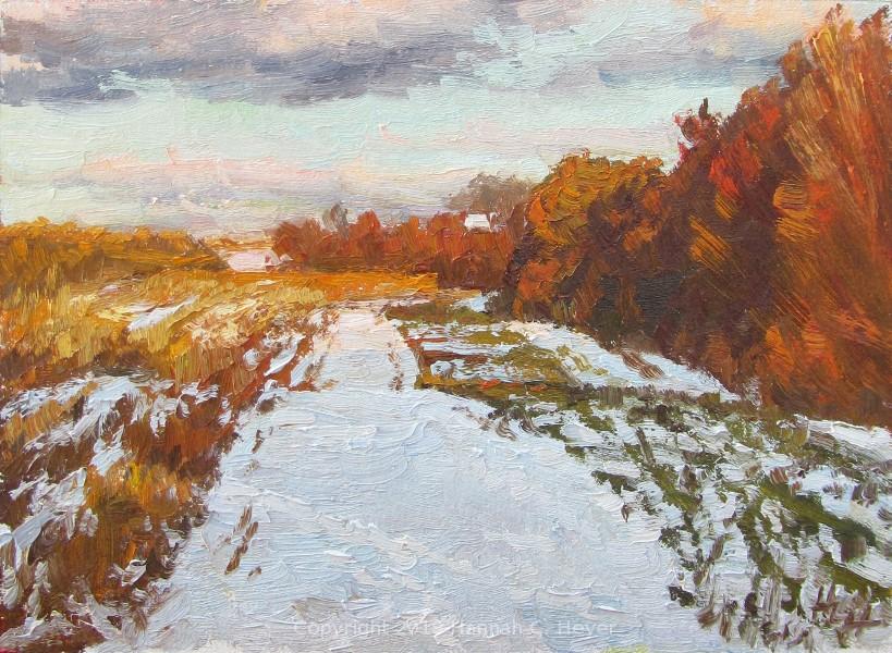 """November Snow"" original fine art by Hannah C. Heyer"