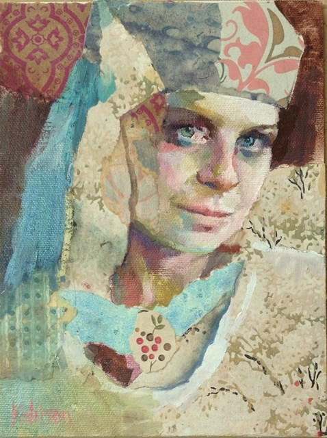 """Head Wrap"" original fine art by Katie Wilson"