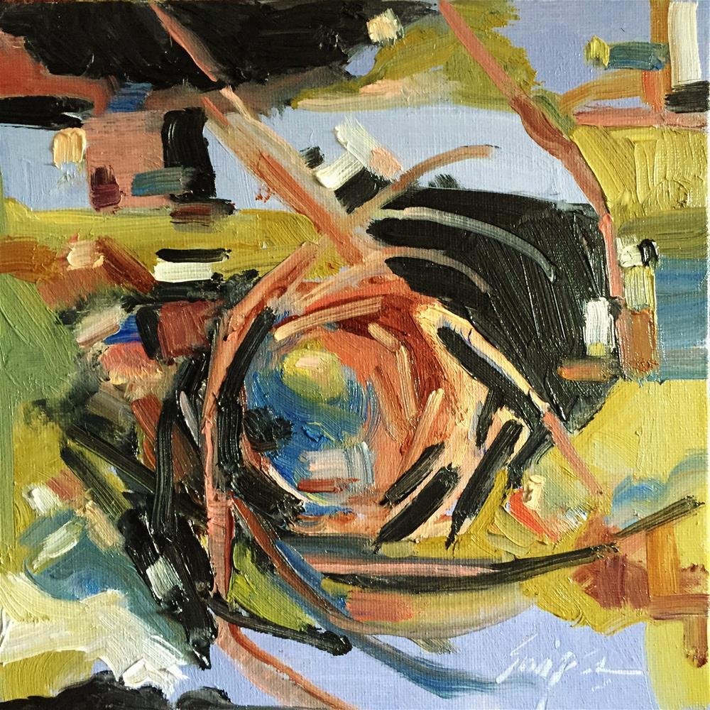 """""""Bird Nest, Day 23"""" original fine art by Connie Snipes"""