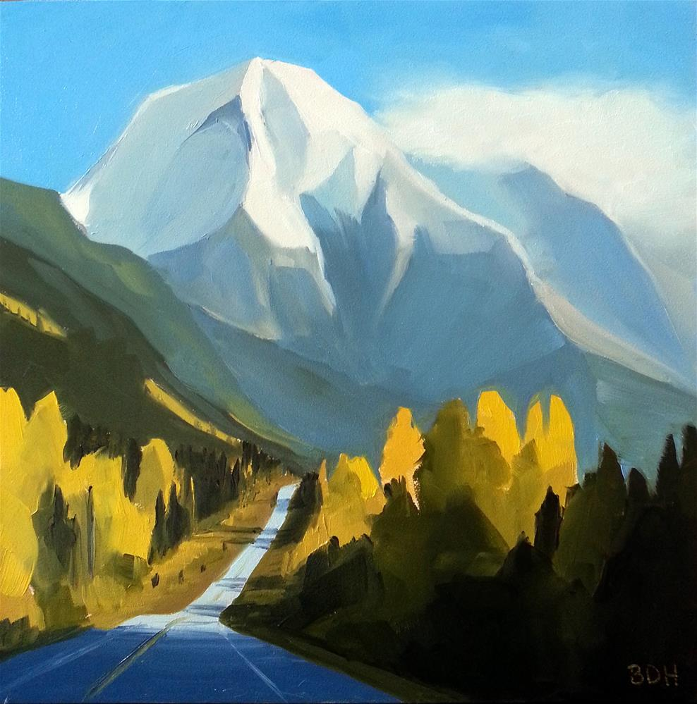 """Road to the Mountains"" original fine art by Beth Hunt"