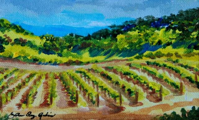 """""""Gilroy's Got Wine"""" original fine art by JoAnne Perez Robinson"""