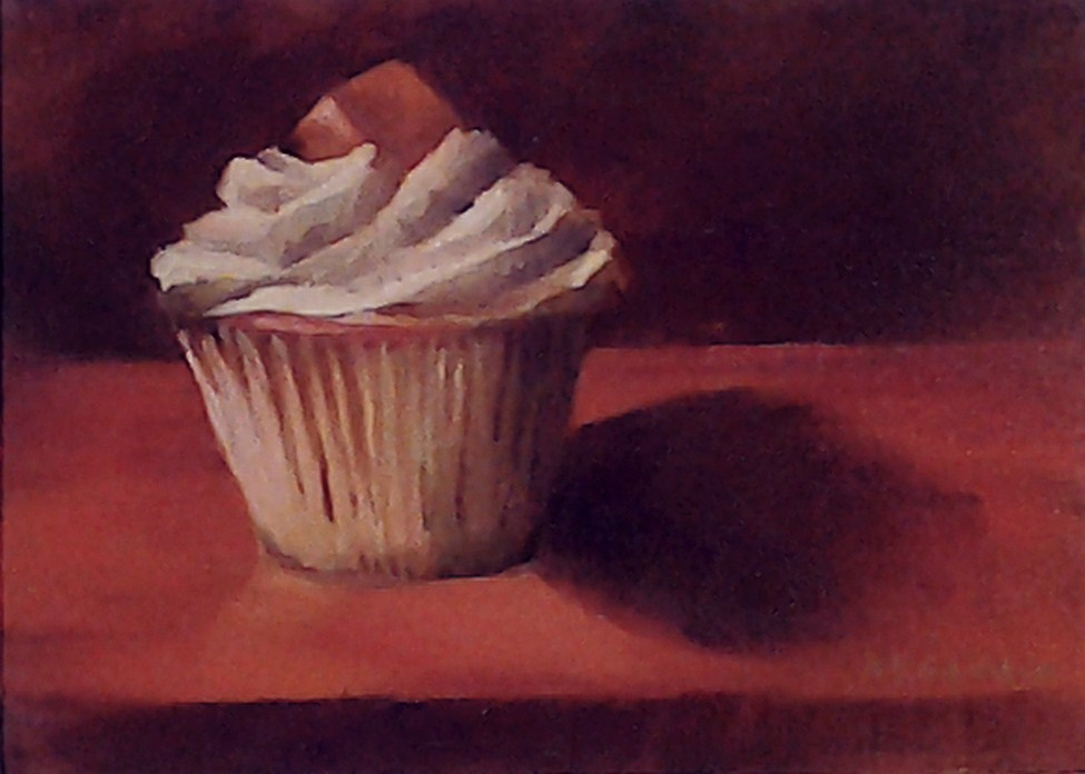 """Salty Caramel"" original fine art by A.K. Simon"