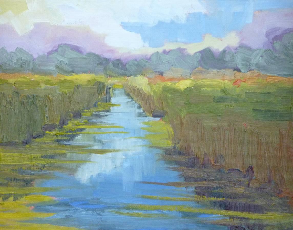 """Spring at Grassy Creek"" original fine art by Shawn Deitch"