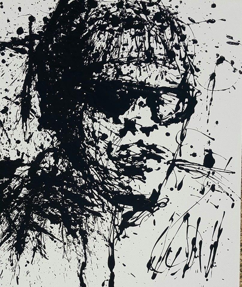 """Cool guy"" original fine art by Rentia Coetzee"