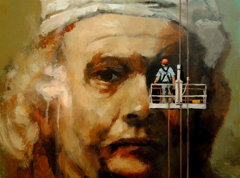 """Maintenance 12x16 oil on canvas"" original fine art by David Larson Evans"