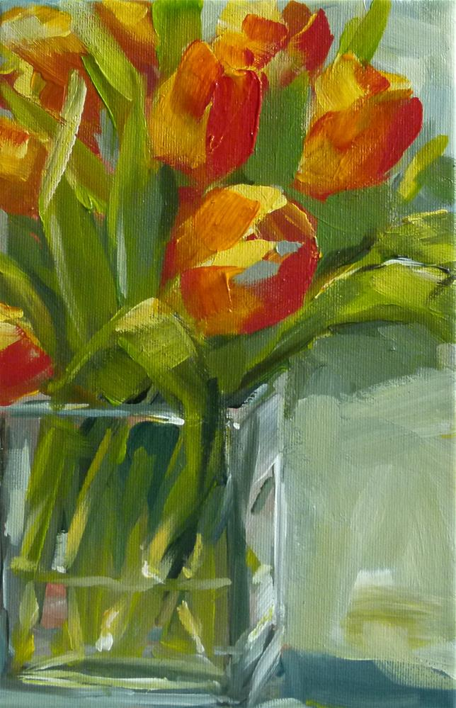 """""""Tulpen vom gestrigen Markttag"""" original fine art by Sabine Hüning"""