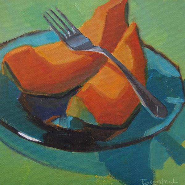 """Cantaloupe"" original fine art by Robin Rosenthal"