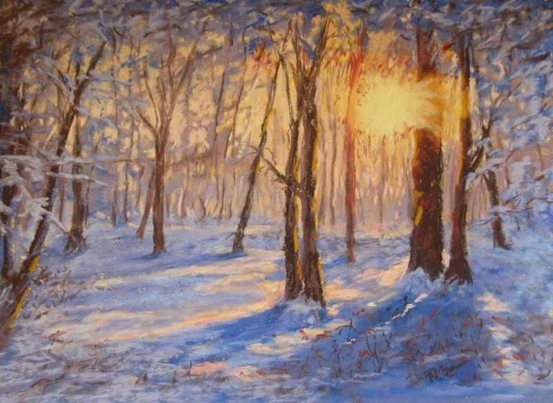 """""""Winter Sun"""" original fine art by Ruth Mann"""