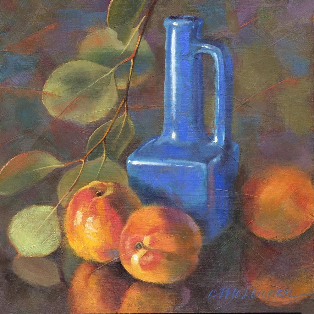 """Colorful Apricots"" original fine art by Connie McLennan"