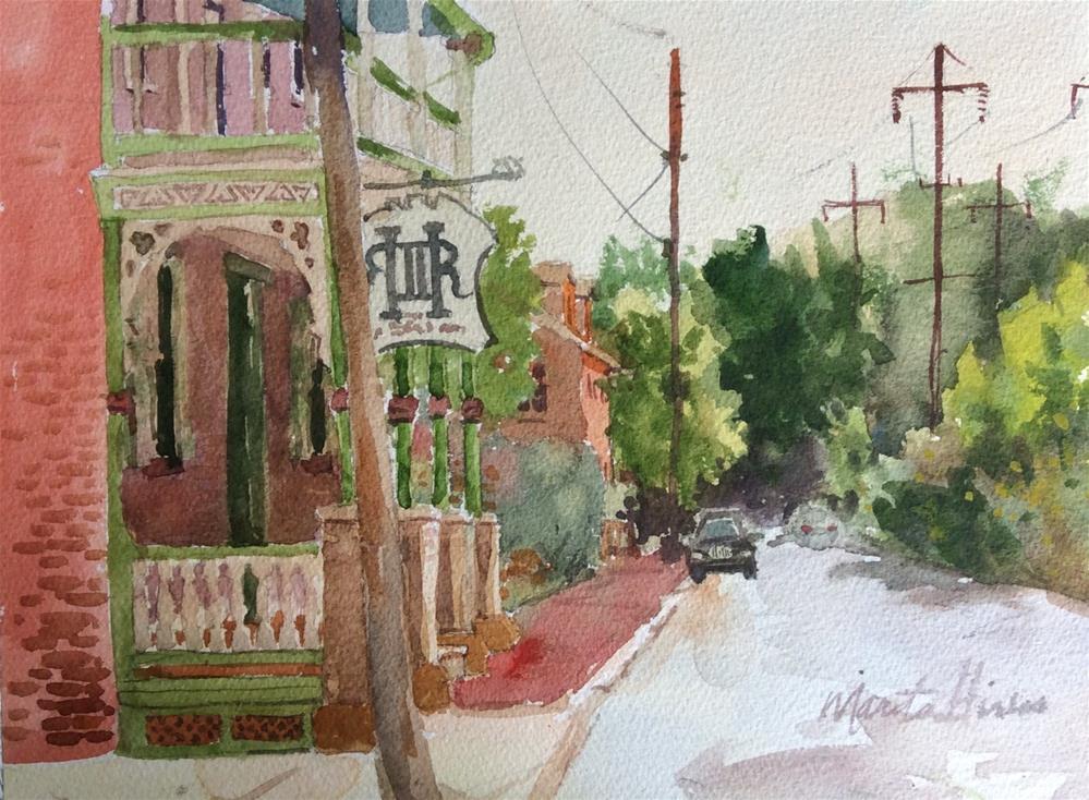 """West Front Street"" original fine art by Marita Hines"