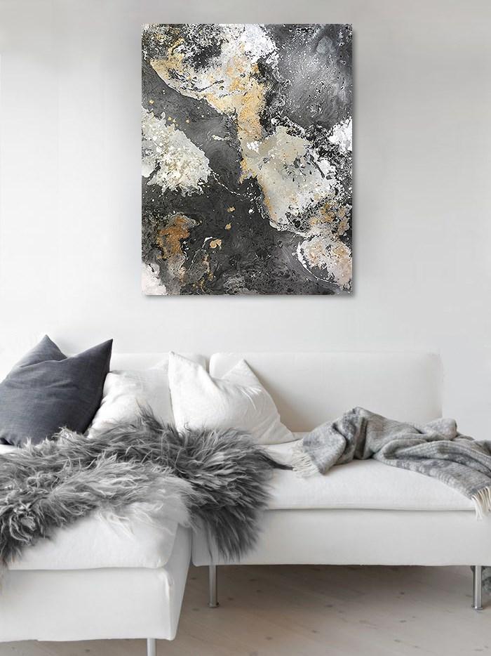 """Black Gray & Copper"" original fine art by Sunny Avocado"