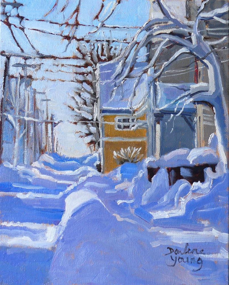 """""""920 Charlottetown Winter Scene, oil on board, 8x10"""" original fine art by Darlene Young"""