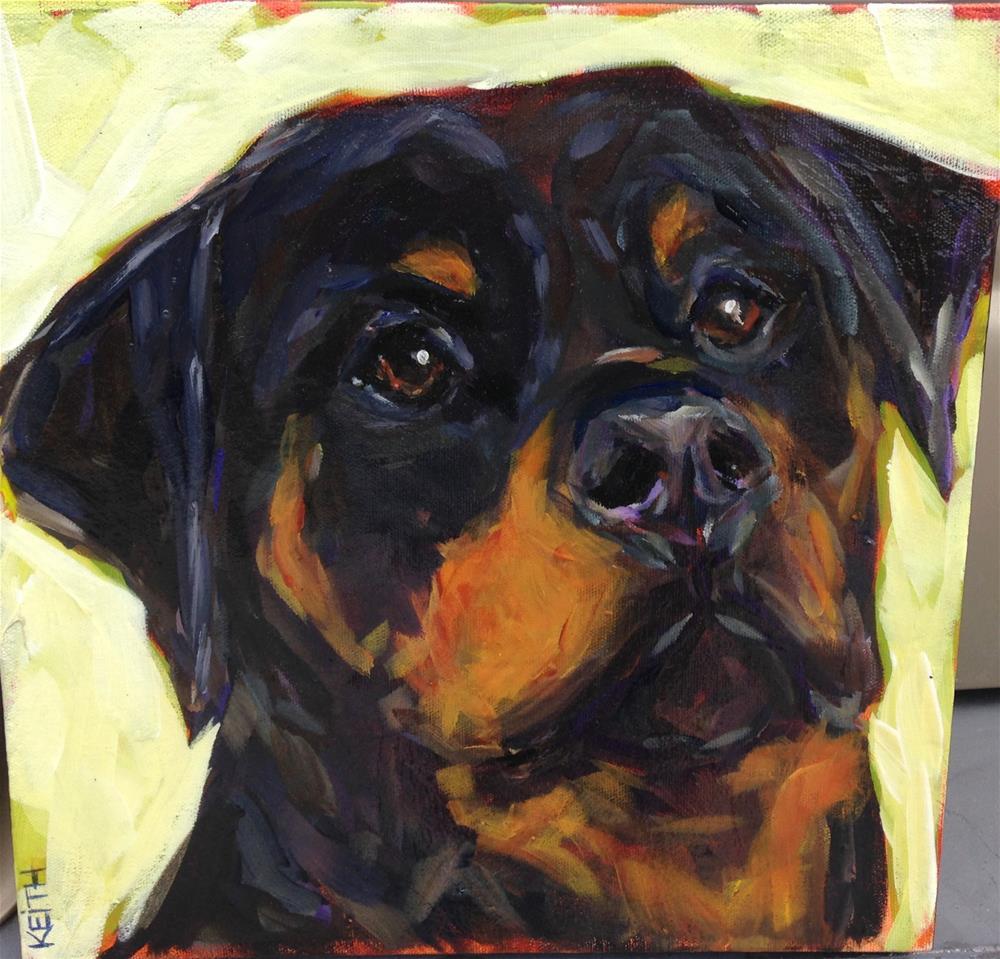 """Bear"" original fine art by Kandice Keith"