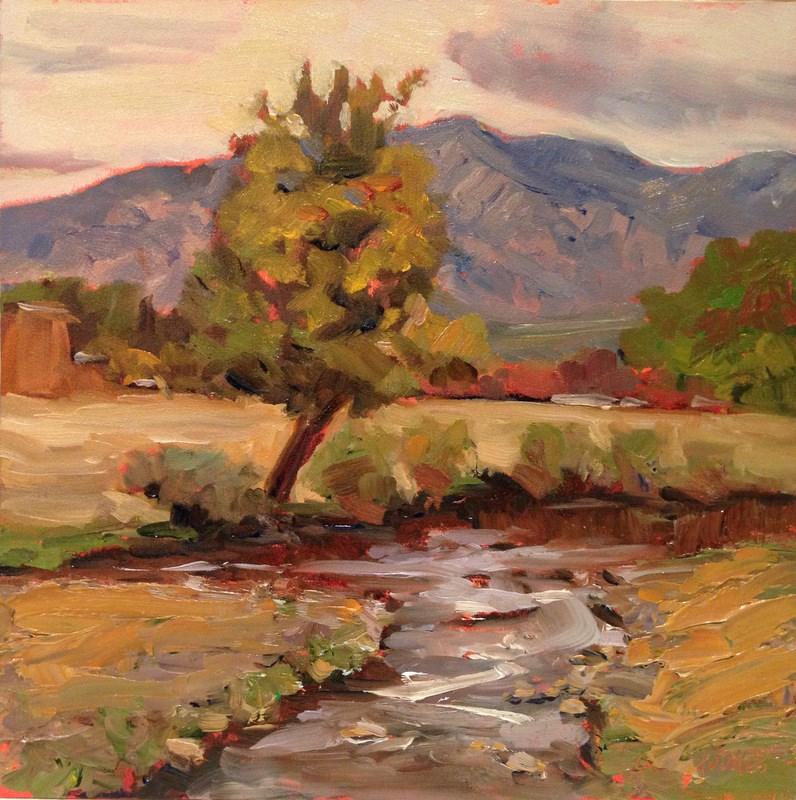 """""""Taos Tree II, Day 51"""" original fine art by Claudia L Brookes"""