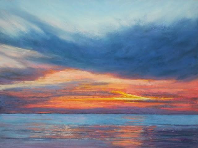 """High's Beach"" original fine art by Sharon Lewis"