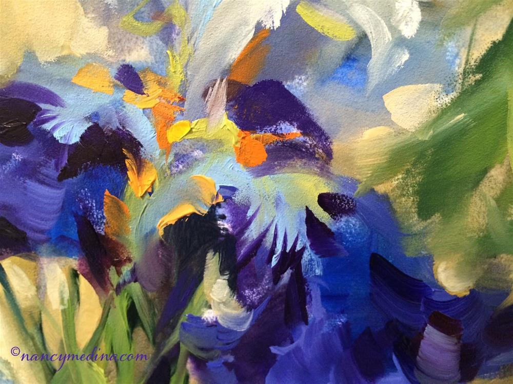 """Slice of Purple Iris "" original fine art by Nancy Medina"