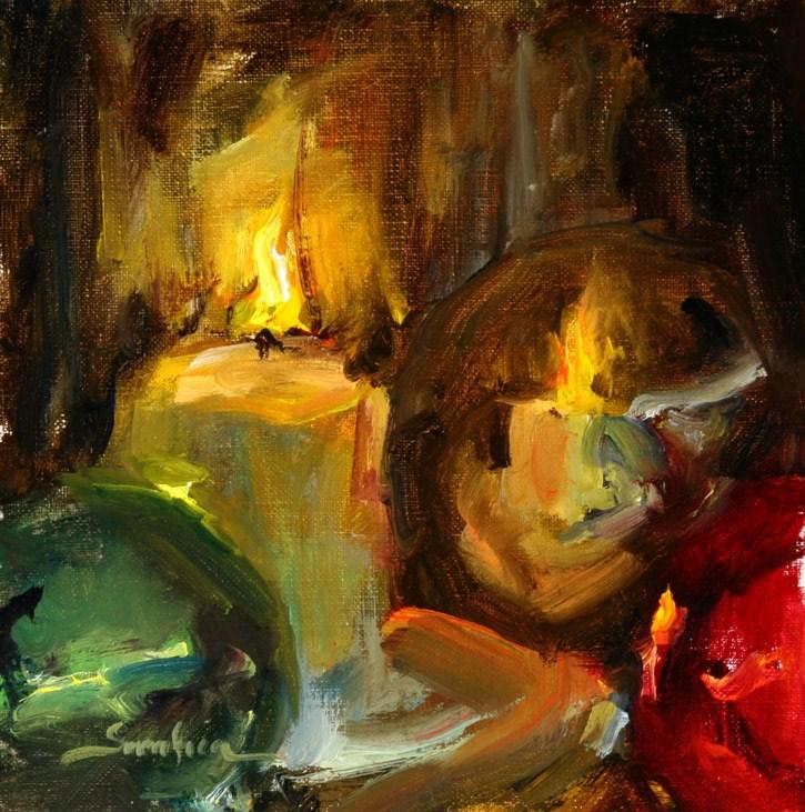 """Candle Lites 03"" original fine art by Scott Serafica"