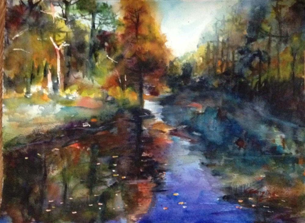 """""""fall1"""" original fine art by Wenqing Xu"""