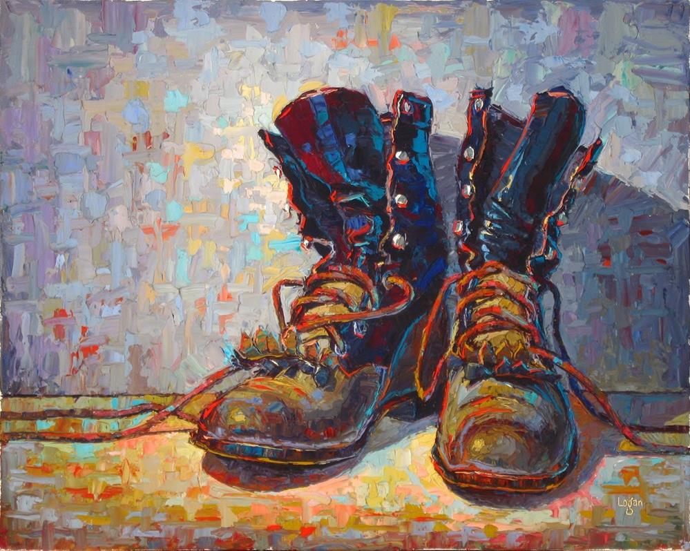 """J's Other Ropers (The Larger)"" original fine art by Raymond Logan"