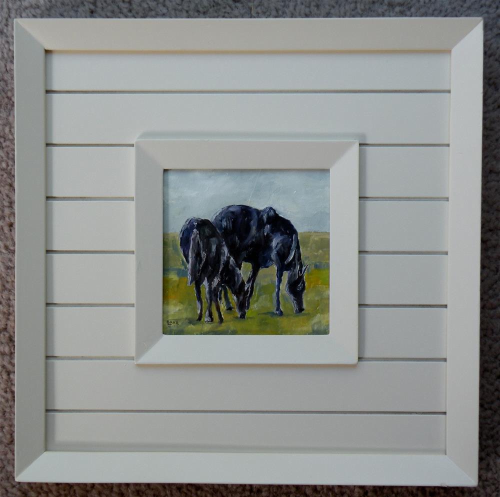 """SHADOW HORSES FRAMED"" original fine art by Saundra Lane Galloway"