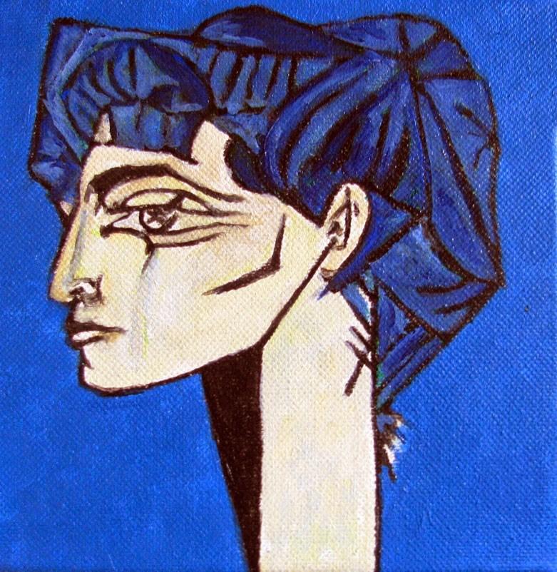 """Picasso's Jacqueline - variation"" original fine art by Nan Johnson"