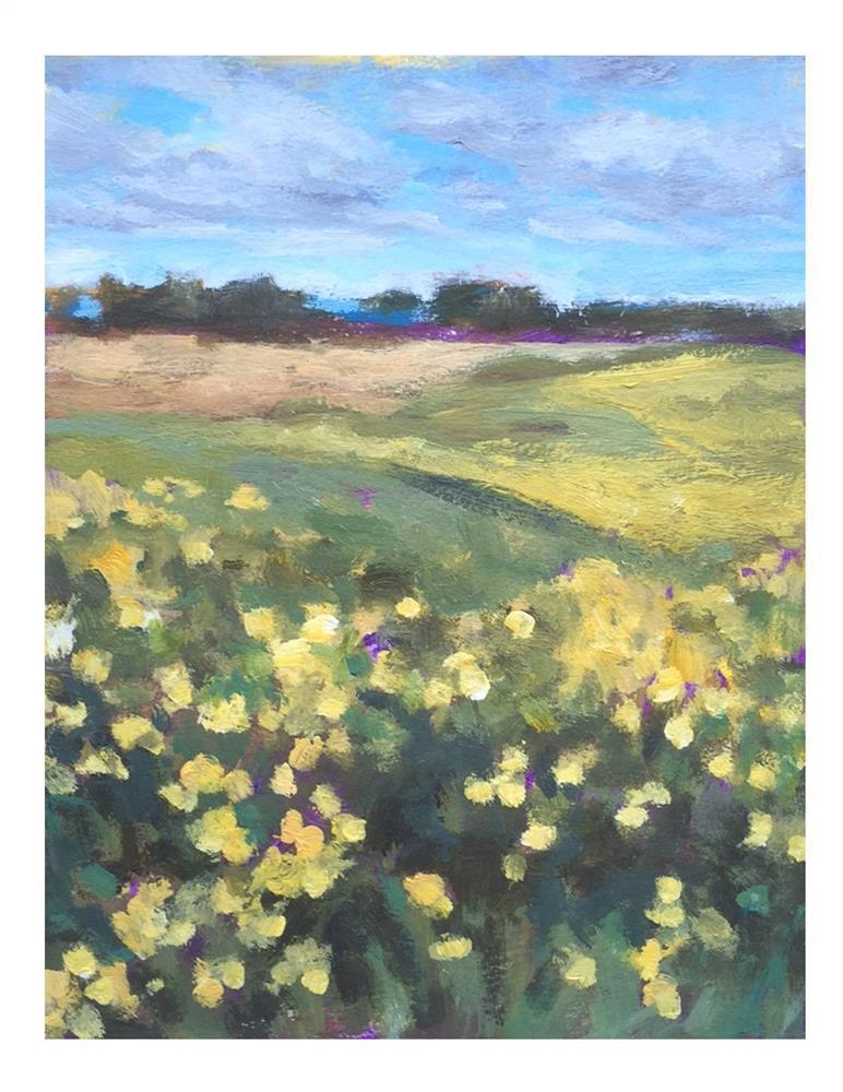 """""""Dandelion Field"""" original fine art by Suzanne Woodward"""