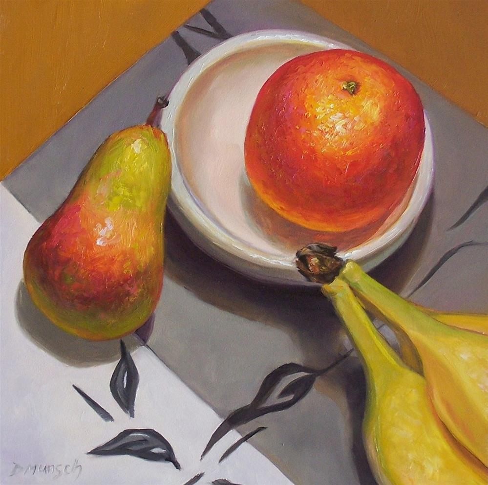 """Touch Fruitball"" original fine art by Donna Munsch"