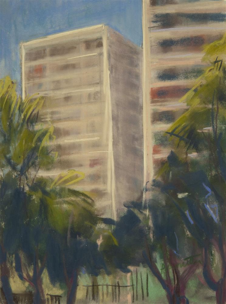 """Santiago Sunshine"" original fine art by Sarah Peroutka"