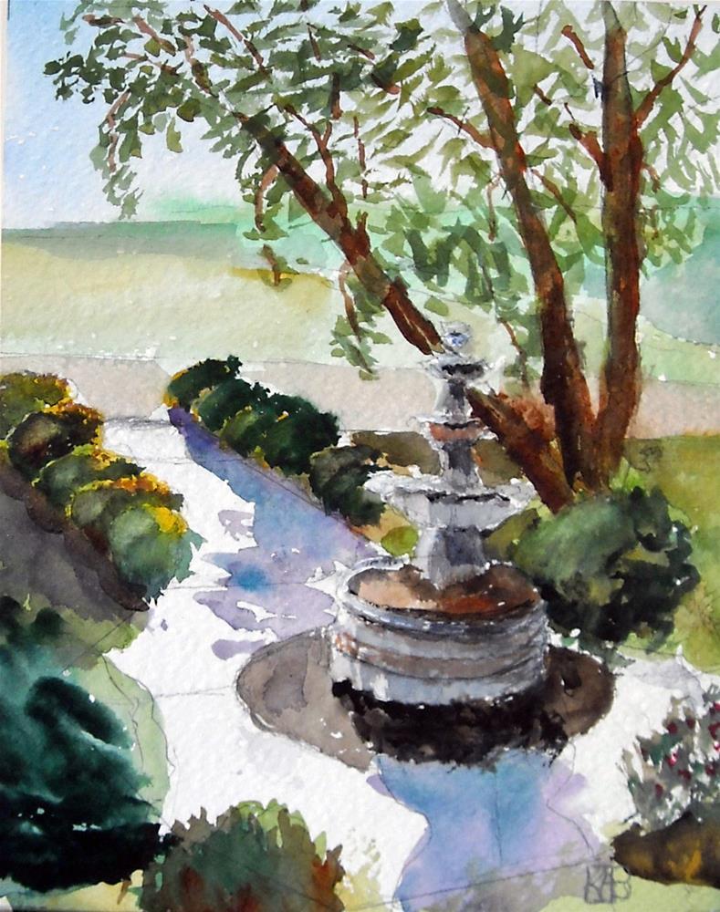 """Fountain at Balducci's"" original fine art by Kathleen Barnes"
