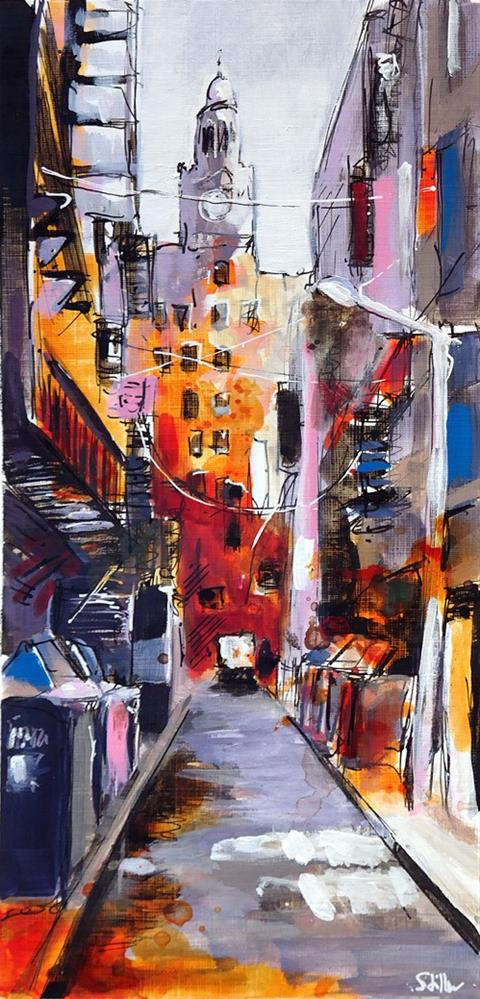 """2786 Back Alley"" original fine art by Dietmar Stiller"