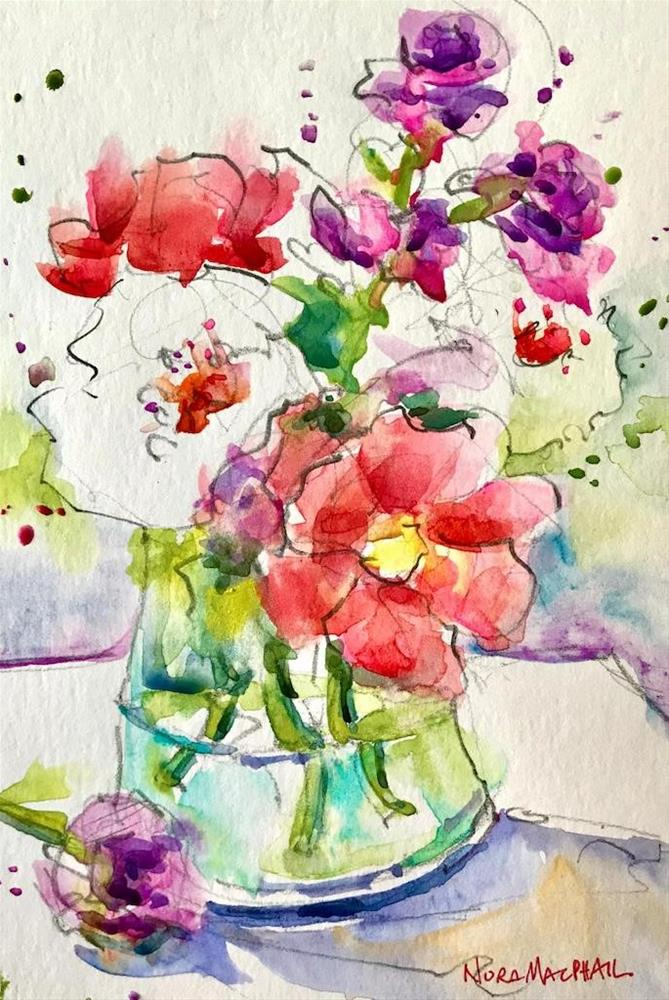 """""""with a spring in your step"""" original fine art by Nora MacPhail"""