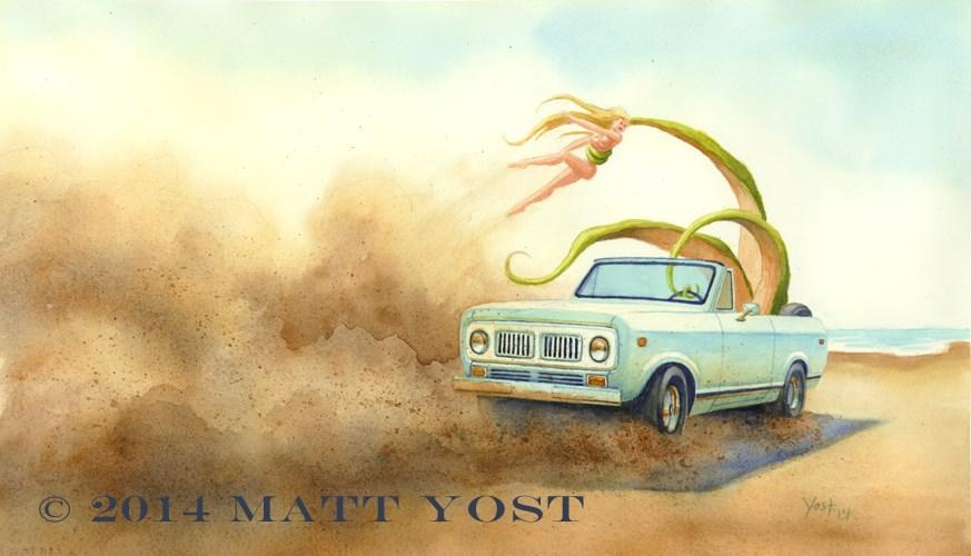 """""""Kidnapping"""" original fine art by Matt Yost"""