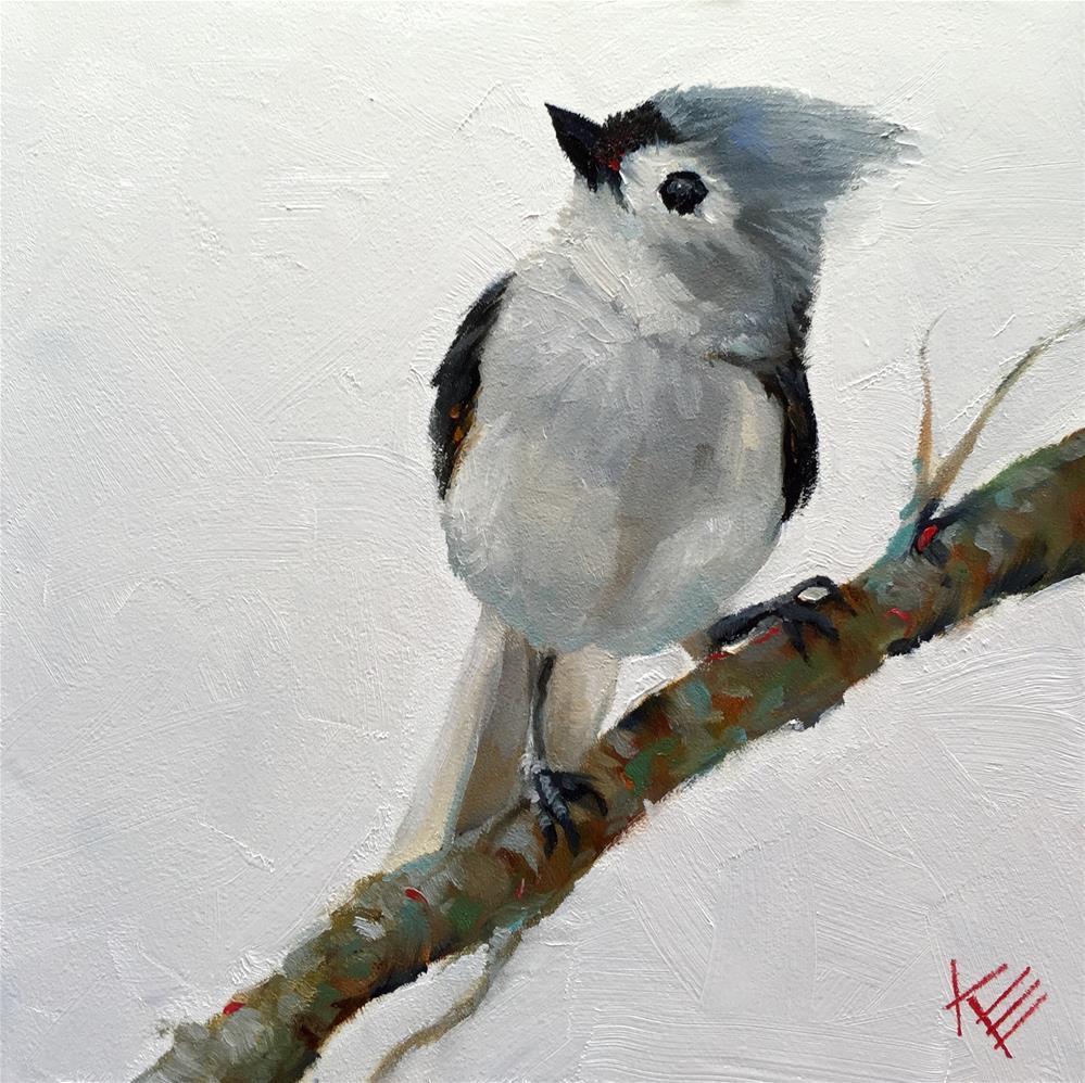 """""""Little Tweet"""" original fine art by Krista Eaton"""