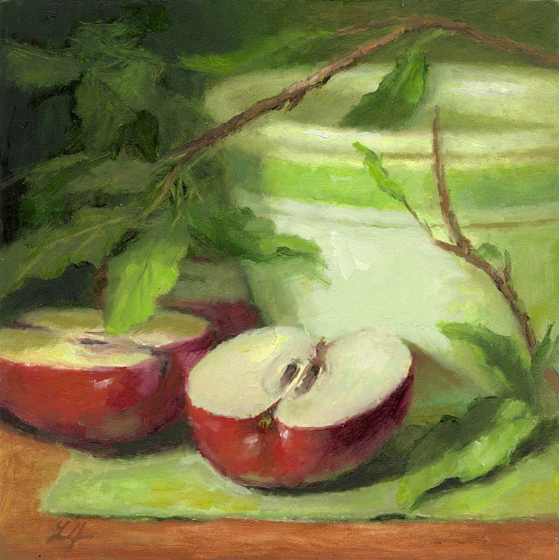 """Apples"" original fine art by Linda Jacobus"