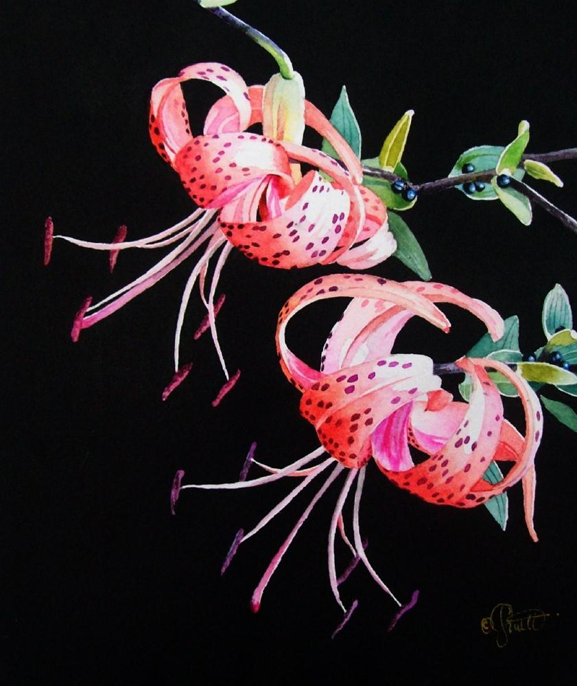 """Whirlybirds"" original fine art by Jacqueline Gnott, TWSA, WHS"