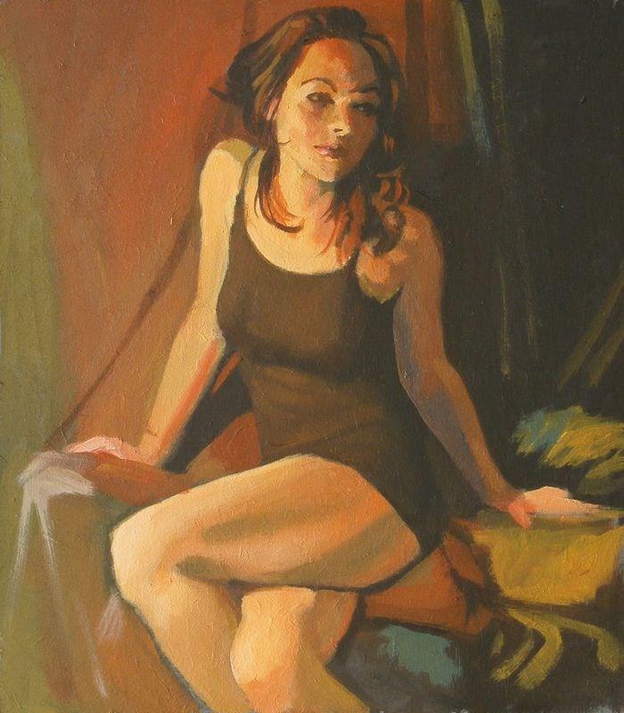 """Brown dress"" original fine art by Peter Orrock"