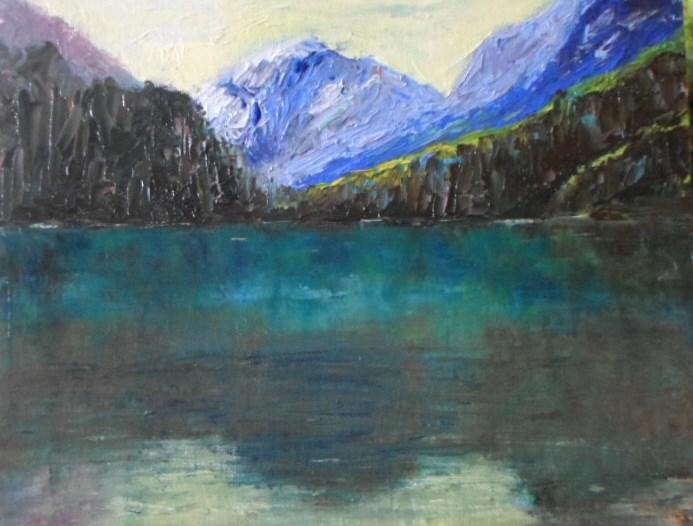 """8 x 10 inch oil Coastal Inlet #14"" original fine art by Linda Yurgensen"