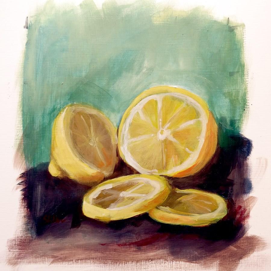 """1694 Lemon Study"" original fine art by Dietmar Stiller"
