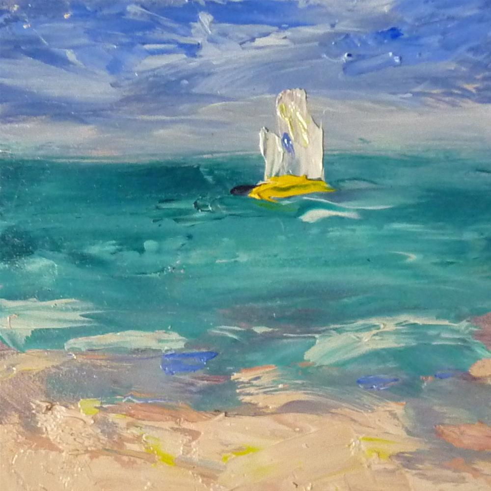 """""""Why I Love a Cruise Vacation...Cruising for Artists!"""" original fine art by Karen Margulis"""